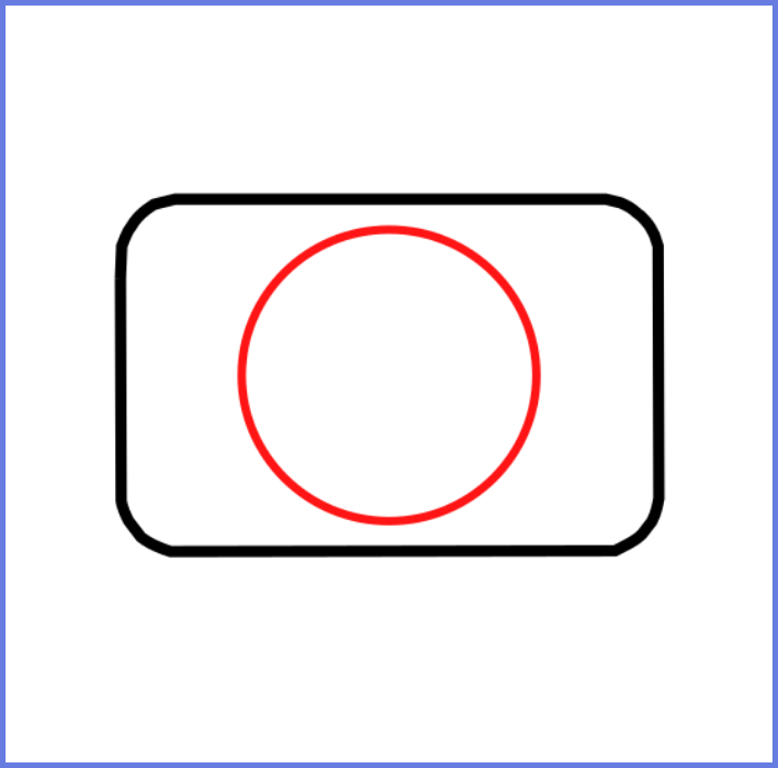 2nd step of how to draw a camera