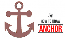 how to draw an anchor Step-By-Step Instructions
